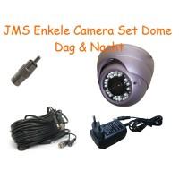 JMS Enkele Camera Set Dag-Nacht Dome (weer/vandaalbestendig)